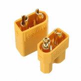 1pair conector dourado dois milímetros xt30 macho plugue fêmea de interface