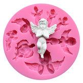 Пищевой сорт Силиконовый Формочка для выпечки DIY Шоколадное печенье Выпечка льда Инструмент Специальная форма ангела
