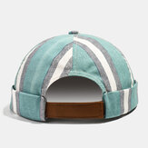 Collrown Herren Vermieter Hut Summer Street Trends Schädelkappe Vintage Innocent Metal Standard Brimless Huts