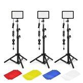 ALTSON XK-70D 3 Paket KIT 70 LED Ayarlanabilir Tripod Standlı Video Işığı/Renk Filtreleri 5600K USB Stüdyo Aydınlatması Kit Fotoğrafçılık için