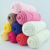 100g 23 Farben lange Stalped Cotton Soft Strickwolle Garn 8 Zwirn Schal Hut Swater Garn Ball