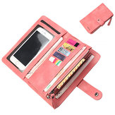 Baellerry Women 9 Cards Slots Long Wallet Phone Bag