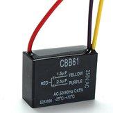 CBB61 1.5uF + 2.5uF 3 WIRE 250VAC Tavan Vantilatörü Kapasitör 3 Tel