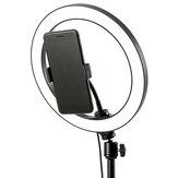 Halka Dolgu Işığı Lamba 12 W Canlı Işık USB Güç Düz Halka Işık LED Lamba ile Telefon Tutucu