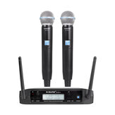 Bakeey GLXD4 Wireless Microphone UHF Dynamic Handheld Mic Automatic Frequency Speech Microphone for Kraoke Speech Party