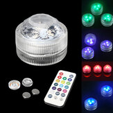 1pc /10pcs RGB LED Spot Light Underwater Swimming Pool Lamp Fountain Remote Control