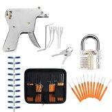 36Pcs Transparent Lock Pick Leather Bag Lock Repair Lock Tool Gasket Set