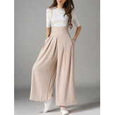 Sleeveless Straps Loose Wide Leg Pants
