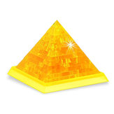 Novelty IQ Crystal Blocks Jigsaw Puzzles Toy 3D Pyramid DIY Model Gift