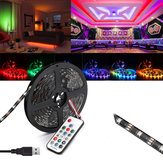 0.5M / 1M / 2M / 3M / 4M / 5M DC5V USB RGB 5050 WS2812 Impermeabile LED TV Back Light Light + Kit telecomando
