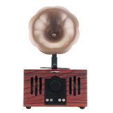 Portable Gramophone Shape Wireless bluetooth Speaker Support TF card AUX U-Disk