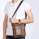 Weixier Men PU Leder Vintage Handtasche Retro Umhängetasche Umhängetasche