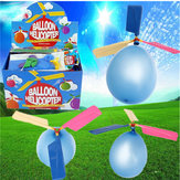 20PCS Engros Colorful Traditionel Classic Balloon Helicopter Portable Flying Toy