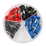 200pcs rame isolato terminale grigio 0.75mm² 1.0mm² rosso 1.5 mm² nero blu 2.5 mm²