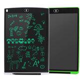 12 inch 2-pack LCD-schrijftablet 3 in 1 muismat liniaal tekening doodle bord monochroom handschriftblokken voor kinderen wit + groen