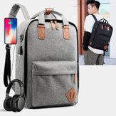 Pria 3 PCS USB Pengisian Lubang Earphone 15.6 Inch Tas Laptop Multifungsi Ransel