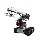 6 DOF Metal Aluminum Alloy Mechanical Arm Six-axis Robot 201 Arduinos with Tank Crawler Chassis