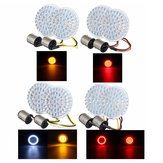 2pcs Motorcycle LED Brake Tail Light Turn Signal Lamp Bulbs 1156 / 1157 For Harley