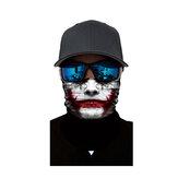 Outdoor 3D Face Neck Warmer Mask Scarf Biker Neck Warmer Sunscreen Headband Cap