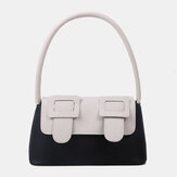Women Contrast Color Fashion Cute Creative Tote Handbag Shoulder Bag