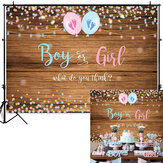 150x100CM 210x150CM 250x180CM Spray Painted Vinyl Boy Girl Gender Reveal Photography Backdrop Party Background Decoration