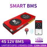 DALY BMS 4S 12V 150A 200A 250A 18650 Smart LiFePO4 BMS bluetooth 485 na USB zařízení CAN NTC UART Togther Lion LiFePO4 LTO Baterie