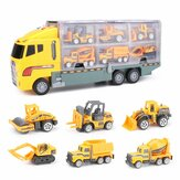 7 SZTUK Duża koparka budowlana Koparka Kid Diecast Model Toy Demolition Vehicle Car