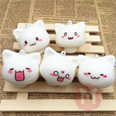 Squishy Speelgoed Champignon Cat Kawaii Cartoon Leuke Face Decor Bag Mobiele Telefoon Straps