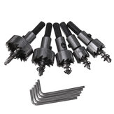 5pcs HSS 6542 Hole Sawtooth HSS Hole Saw Cutter Drill Bit Set 16/18.5/20/25/30mm with Plastic Box