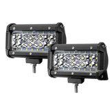 2 PCS 5 Pouce LED Travail Barre De Lumière Combo Faisceau Faisceau Brouillard Lampe 72W 6000LM pour Jeep Offroad ATV Camion