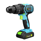 Tonfon 3 in 1 20V Rechargable Impact Drill Cordless Electric Screwdriver Drill with Bits
