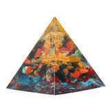 Orgonite Pyramid Energy Chakra Multiplier Reiki Orgone Peridot en Rainbow Fluorite Healing Decorations