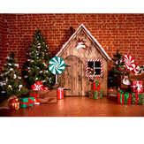 1.5X2.1CM Christmas Photography Background Backdrop Fabric Screen Studio Shooting Wall Cloth