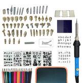97 Pcs 110V~240V 60W DIY Adjustable Temperature Electric Soldering Iron Welding Kit