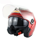 Motorcycle Scooter Half Face Helmet Dual Lens Riding Protective Breathable Anti-UV