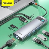 Baseus 8-in-1 USB-C Hub Docking Station Adapter With 100W PD Power Delivery / 4K@30HZ HD Display / 3*USB3.0 / RJ45 Gigabit Ethernet / Memory Card Readers