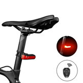 4-Modes Wireless Remote Bicycle Light USB Rechargeable LED Taillight Warning Rear Light Smart Turn Signal Lamp