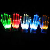 LED knippert constant Glow Light Up Finger Glove verlichting Xmas Dance Party Cosplay