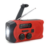 Hand-Crank Solar Power Dynamo AM/FM/WB NOAA Global Weather Radio Flashlight Power Bank