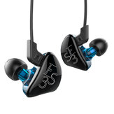 KZ ES3 HiFi 4 Drivers Earphone Balanced Armature Dynamic Driver Hybrid Noise Cancelling Headphone