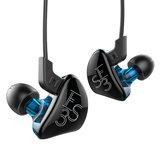 KZ ES3 HiFi 4 sterowniki Słuchawki zbalansowane Armature Dynamic Driver Hybrid Noise Canceling Headphone