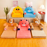 Cartoon Cute Foldable Baby Sofa Cover No Filling Baby Seat Lazy Person Chair Toys