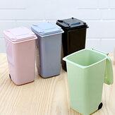 650 ml Mini asztali kannák Praktikus hulladékgyűjtők fedéllel, háztartási tiszta szemetes pulttal
