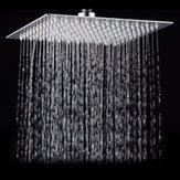 15x15 cm 6 İnç Kare Su tasarrufu Basınçlı Üst Sprey Yağmur Yağış Duş Başlığı 201 Paslanmaz Çelik