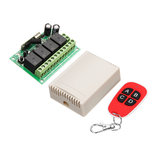 433MHz DC 12V Learning Type Four Way Wireless Remote Control Switch 4CH Channel Relay Control Module