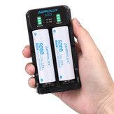 ASTROLUX® SC02 Type-C QC 3.0 Hızlı Şarj USB Batarya Şarj Cihazı Li-ion / IMR / INR / ICR için Çift yuvalar Ni-MH Ni-Cd 21700 18650 26650 El Feneri Batarya