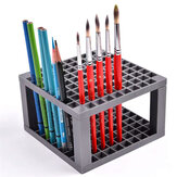 96 Grid Rectangle Pen Holder Paint Brush Holder Watercolor Oil Acrylic Painting Tool Storage Stationary Art Easel Supplies