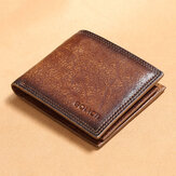 Men Genuine Leather Short RFID Anti-theft Multi-card Slot Card Holder Coin Purse Wallet Cowhide Money Clip