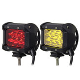 4Inch 12LED 24W Car Truck Off-road LED Work Light Bar Driving Fog Flood Beam Lamp Vermelho Amarelo