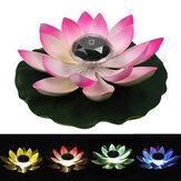 Lotus LED Lâmpada solar impermeável Piscina Luz para decoração de jardim paisagístico